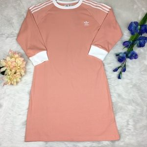 Adidas 3-Stripes Bodycon Dress Dusty Pink Size L